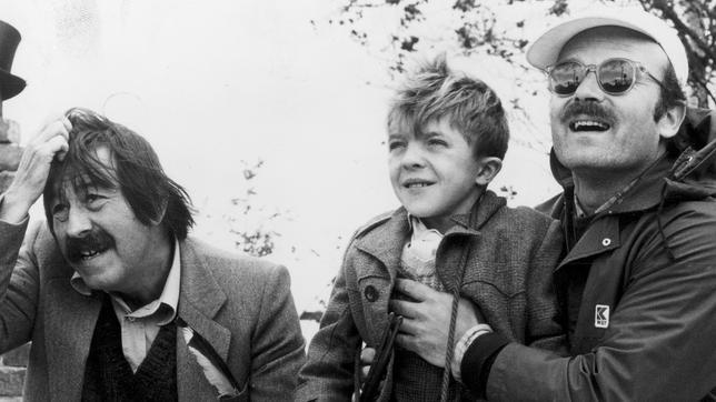 Grass, Bennent és Schlöndorff a forgatás egy szünetében (1979)